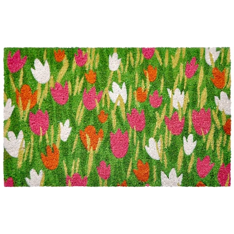 "Liora Manne Spring Meadow Coir Welcome Door Mat (1'6"" x 2'6)"