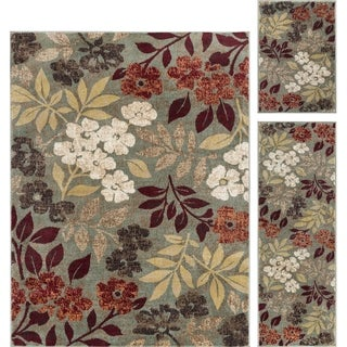 Link to Alise Rugs Decora Transitional Floral Runner Rug Similar Items in Shabby Chic Rugs