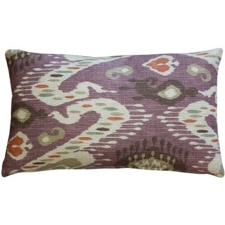 Pillow Decor - Solo Mulberry Ikat Throw Pillow 12x20
