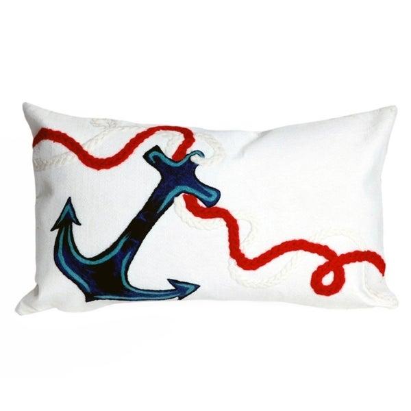 Porch & Den Lavender Anchor' Pillow (12 x 20)