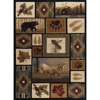 Alise Rugs Natural Novelty Lodge Area Rug - 9' x 12'