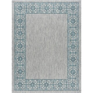 Alise Rugs Colonnade Traditional Border Area Rug - 9' x 12'
