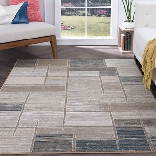 Alise Rugs Majolica Contemporary Abstract Area Rug - 9'3 x 12'6