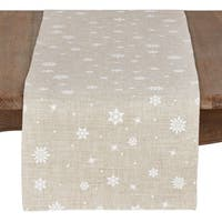 Poly Blend Christmas Runner With Snowflake Design