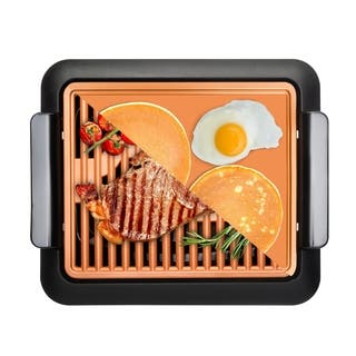 Gotham Steel Smokeless Grill with Griddle Combo Indoor BBQ