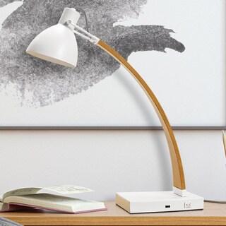Lumesty Maya Matte White Designer Desk Lamp