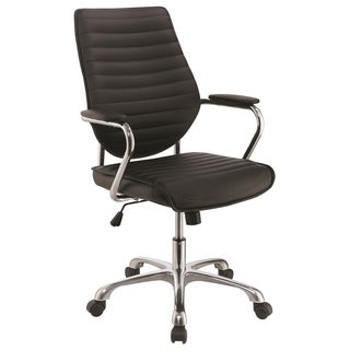 Modern Design Adjustable Swivel Black with Chrome Base Office Chair