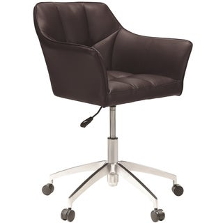 Modern Design Adjustable Swivel Brown Office Chair with Chrome Base