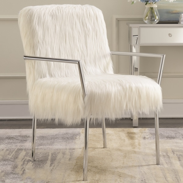Shop Contemporary Furry Design Living Room Accent Chair