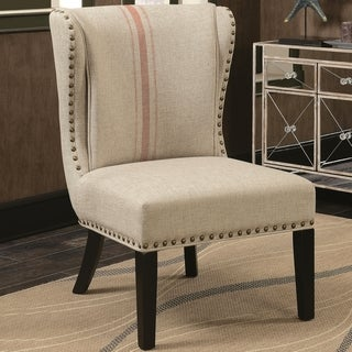 Wingback Design Armless Design Accent Chair with Decorative Nailhead Trim