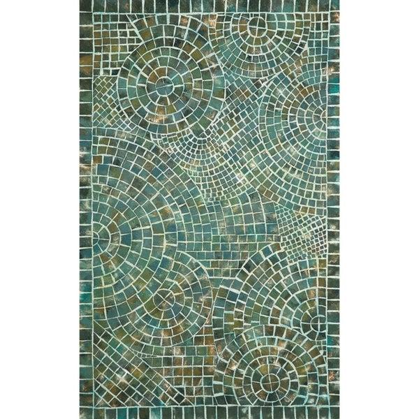 Liora Manne Deco Mosaic Outdoor Rug (2' x 3') - 2' X 3'