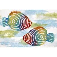 Liora Manne Tropical Fish Mat (1'7 x 2'5) - 1'7 x 2'5