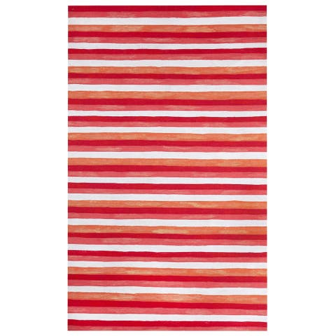 Liora Manne Colorful Stripes Outdoor Rug (5' x 8') - 5' x 8'