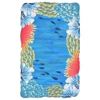Liora Manne Under The Ocean Outdoor Rug (2'3 x 8) - 2'3 x 8