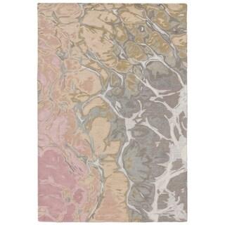 """Liora Manne Corsica Water Wool Indoor Rug Blush 5' X 7'6"""" - 5' x 7'6"""