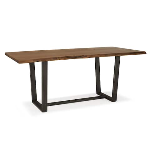 Live Edge Dining Table in Brown by RST Brands