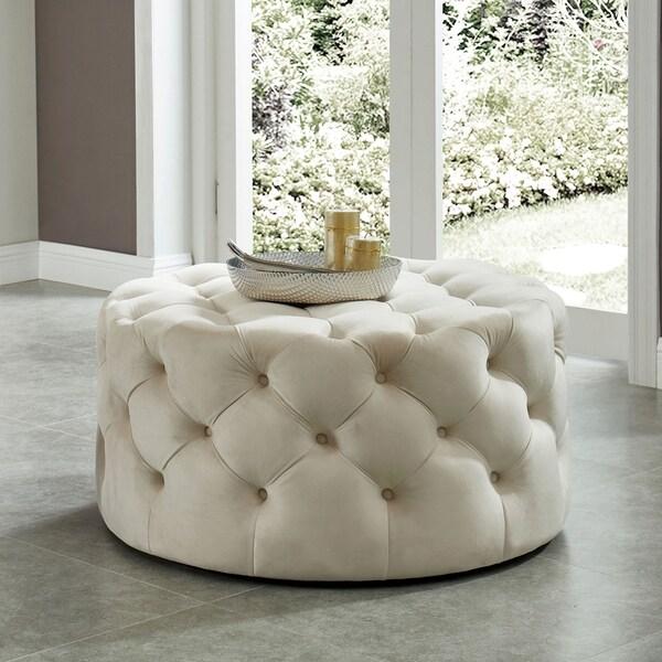 Shop Furniture Of America Nadia II Tufted 34-inch Round