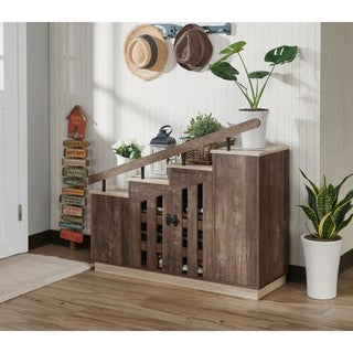 Link to Furniture of America Garner Rustic Shoe Storage Cabinet Similar Items in Dressers & Chests