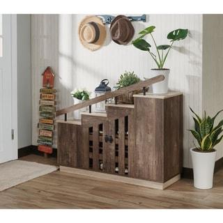 Link to Furniture of America Garner Rustic Shoe Storage Cabinet Similar Items in Dining Room & Bar Furniture