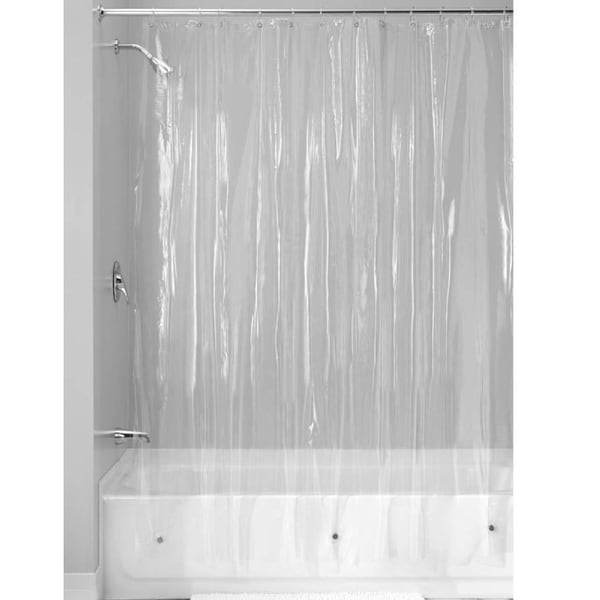 Shop Clear Vinyl Shower Curtain 70 Quot X 72 Quot Free Shipping