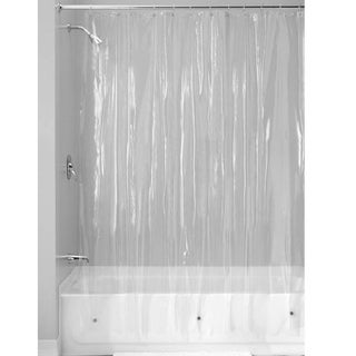 "Clear Vinyl Shower Curtain 70"" x 72"""