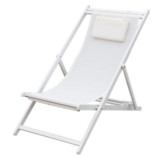 Outdoor Portable Patio Beach Folding Adjustable Chair with Headrest