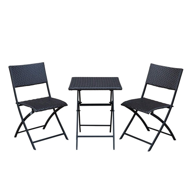 Shop Sunlife Bistro Set 3 Folding Square Table 2 Chairs Patio