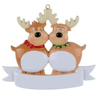 Maxora Personalization Reindeer Ornament Family