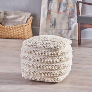 Brady Boho Wool Pou by Christopher Knight Home