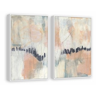 Blush & Navy III Diptych - Multi-color