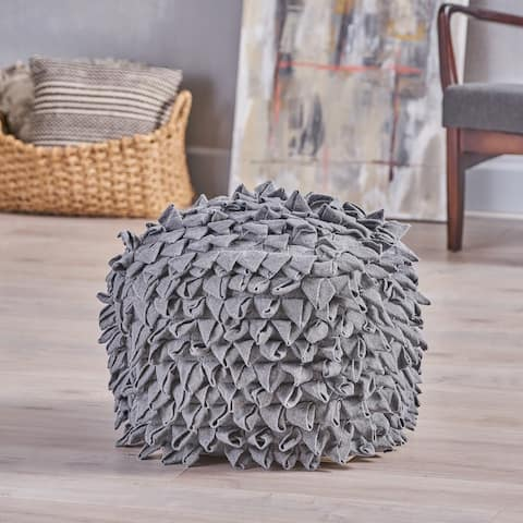 Samurai Boho Cotton Pouf by Christopher Knight Home