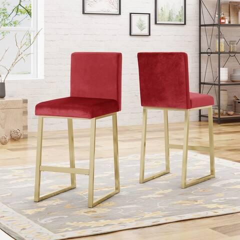 Toucanet Modern Velvet Barstools (Set of 2) by Christopher Knight Home