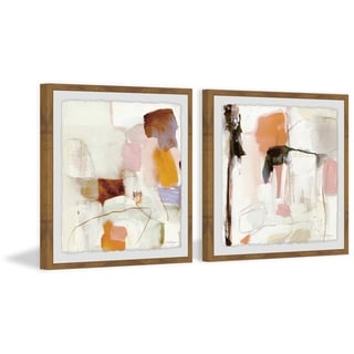 Marmont Hill - Handmade Crazy Abstract Diptych