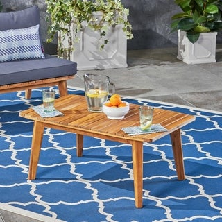 Balmoral Outdoor Acacia Wood Coffee Table by Christopher Knight Home