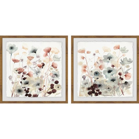 Marmont Hill - Handmade Blooming Garden II Diptych - Multi-color