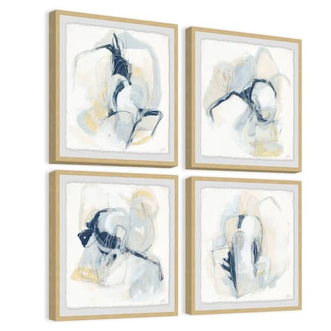 Marmont Hill - Handmade Pastel Sketches Quadriptych - Multi-color