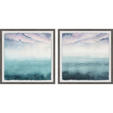 Marmont Hill - Handmade Magical Lagoon Diptych - Multi-color