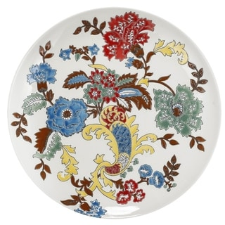 Ceramic Decorative Plate With Colorful Floral Motifs