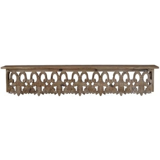 Aesthetic Wooden Wall Shelf, Large, Brown