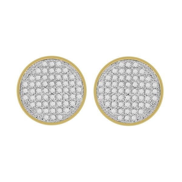 e7583d532 1/3 cttw Round Natural Diamond Round Shape Unisex Stud Earrings 10K Yellow  Gold
