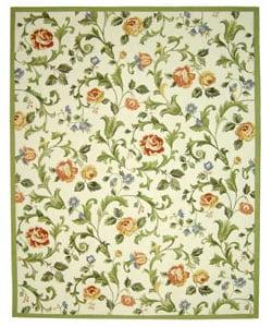 Safavieh Hand-hooked Garden of Eden Ivory Wool Rug - 7'9 x 9'9 - Thumbnail 0