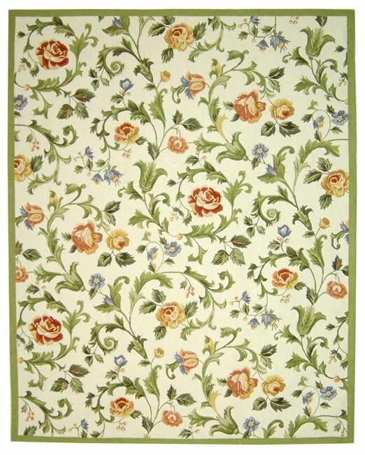 Safavieh Hand-hooked Garden of Eden Ivory Wool Rug - 8'9 X 11'9