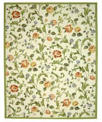 Safavieh Hand-hooked Garden of Eden Ivory Wool Rug (8'9 x 11'9)