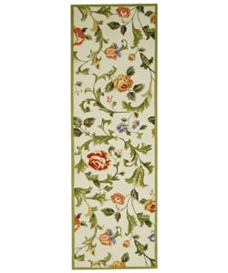 Safavieh Hand-hooked Garden of Eden Ivory Wool Runner (2'6 x 10')