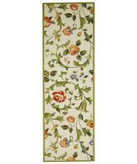 Safavieh Hand-hooked Garden of Eden Ivory Wool Runner Rug - 2'6 x 10'