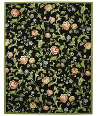 Safavieh Hand-hooked Garden of Eden Black Wool Rug - 8'9 X 11'9