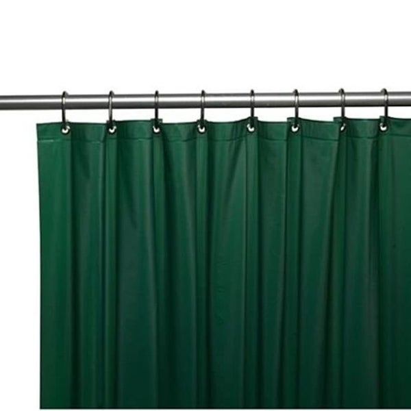 Shop Solid Vinyl Shower Curtain With Hooks Hunter Green 70 X 72