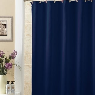 """Solid Vinyl Shower Curtain with Navy 70"""" x 72"""""""
