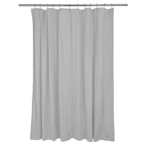 """Solid Vinyl Shower Curtain with Grey 70"""" x 72"""""""