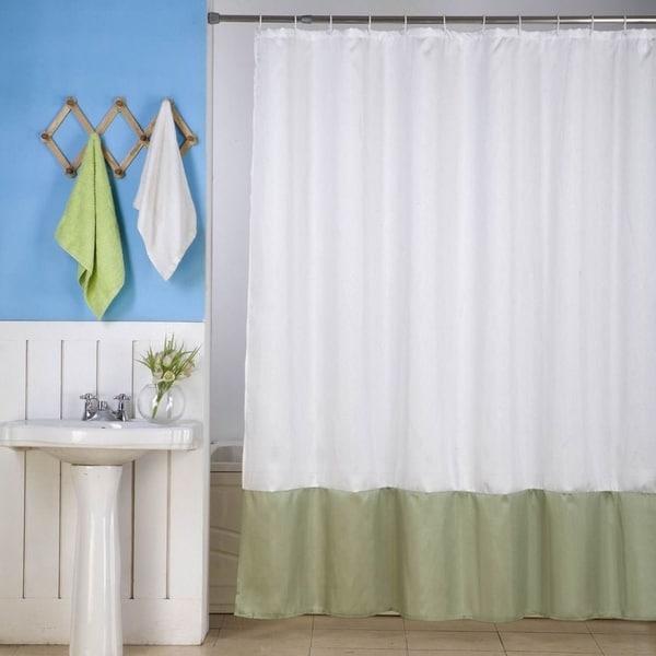 Shop Solid Vinyl Shower Curtain White Sage 72 X
